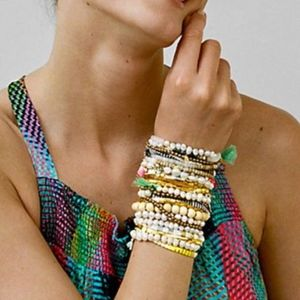 Anthropologie stretch pearl bracelet